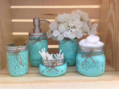 bathroom jar mason jar bathroom set mason jars bathroom decor bridal by
