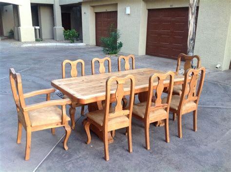 mexican chairs for restaurant dining table w 8 chairs mexican hacienda style ebay