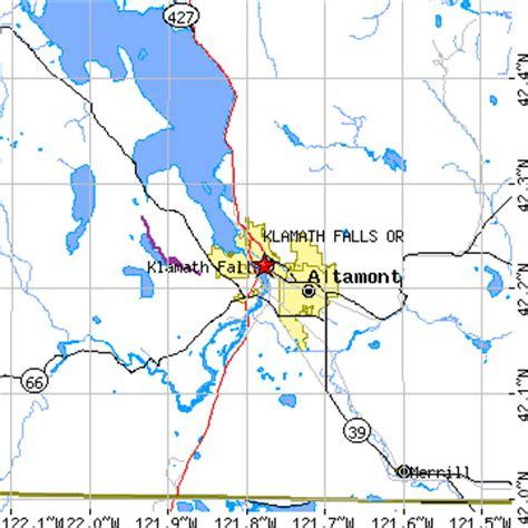 klamath falls oregon map klamath falls oregon or population data races