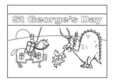 pin st george coloring on pinterest