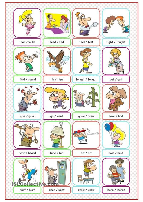 Simple Dictionary irregular verbs picture dictionary 1 letters