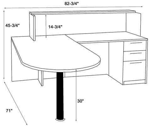 reception desk height standard white ada reception desk