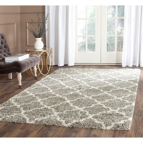 Safavieh Hudson Shag Gray Ivory 9 Ft X 12 Ft Area Rug Area Rugs For Room