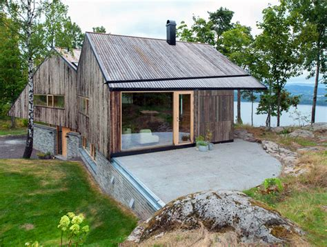 Small Farmhouse Designs rustic double gabled home offers amazing views of the
