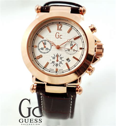 Gc Tanggal Chrono Variasi Gold guess collection gold coklat kucikuci shop