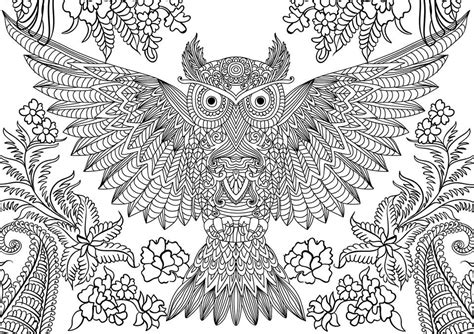 coloring pages for adults owls 10 difficult owl coloring page for adults