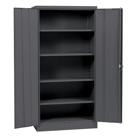 Metal Storage Cabinets With Doors And Shelves Edsal 72 Quot H X 36 Quot W X 18 Quot D Steel Cabinet Tools Garage Organization Shelving Garage Storage
