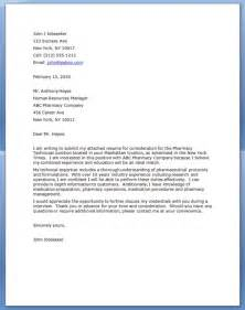 pharmacy technician cover letter pharmacy technician
