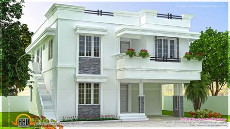 home design beautiful house plan in purple roof kerala