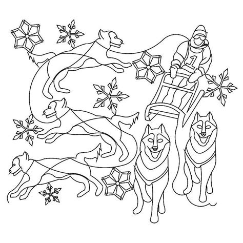 coloring pages of dog sledding 30 best images about drawings on pinterest tribal wolf
