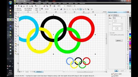 corel draw x5 tutorial logo design corel draw x4 how to draw olympic rings youtube