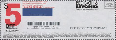coupon bed bath and beyond 20 off bed bath and beyond coupons