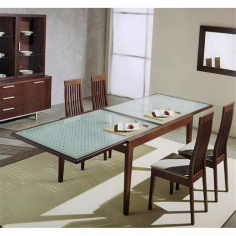 Expandable Glass Dining Room Tables by Practical Expandable Glass Dining Table
