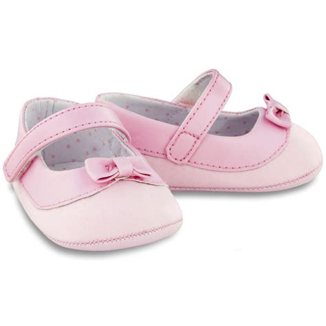 baby pink shoes with bows cachet
