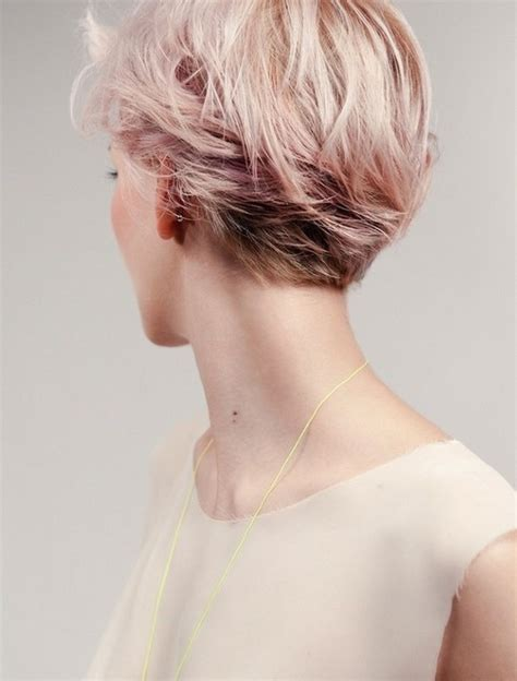2014 summer hairstyles short haircuts back view popular pink short hairstyle 2014 back view of layered short