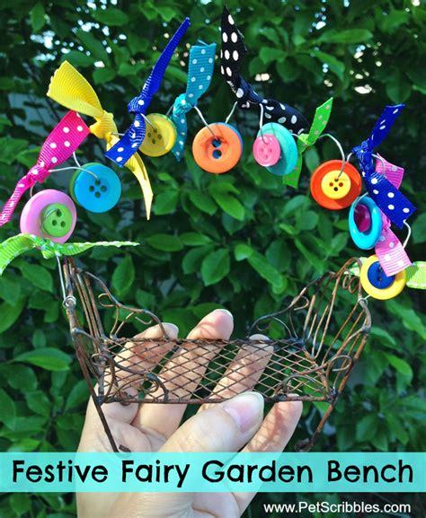 fairy garden bench make a festive fairy garden bench pet scribbles