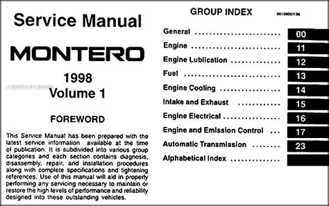 car repair manuals download 1998 mitsubishi pajero engine control mitsubishi pajero 1998 wiring diagram wiring diagram with description
