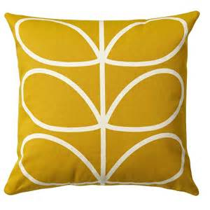 Orla Kiely Cushions Uk Orla Kiely Cushion Linear Stem Sunflower Yellow 163 35 00