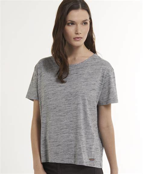 Cotton Boxy Shirt new womens superdry boxy t shirt slub grey ebay