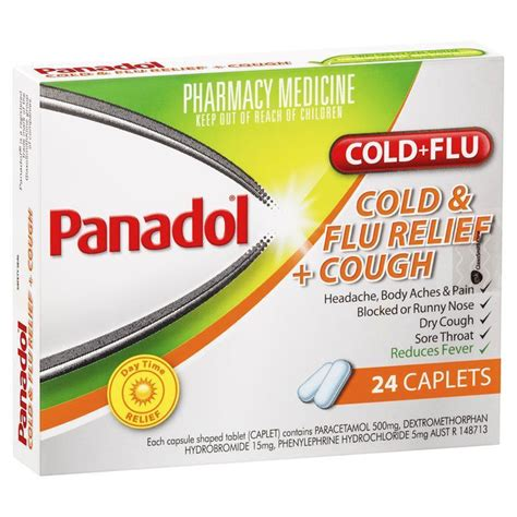 buy panadol cold and flu relief cough caplets 24