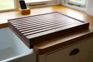 Kitchen Sink With Drainer Board Wooden Draining Boards Makemesomethingspecial Co Uk