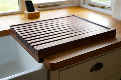 kitchen sink draining board wooden draining boards makemesomethingspecial co uk