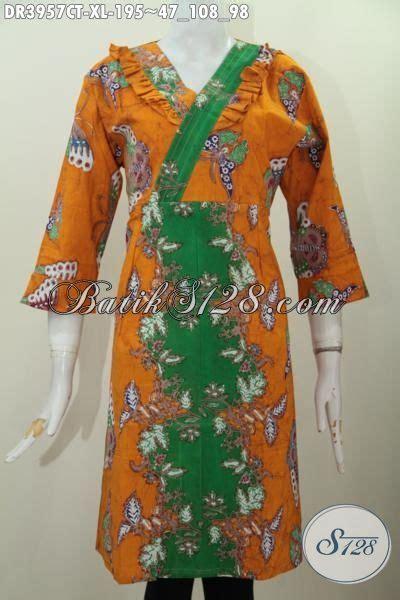 Pakaian Baju Batik Dress Motif Unik Modern Outer Zipper pakaian batik jawa terbaru buat wanita dewasa baju dress modern model resleting belakang motif