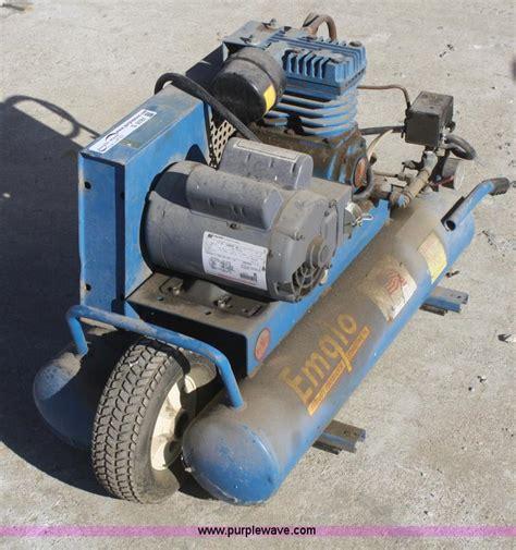 emglo air compressor item  sold wednesday