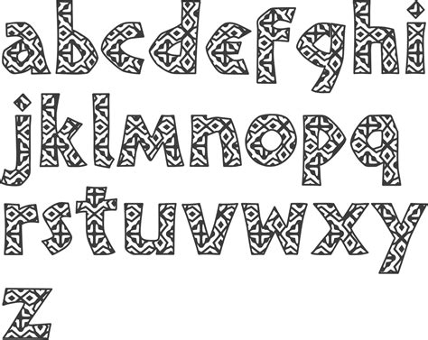 Printable African Fonts | the gallery for gt tribal print font
