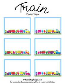 Free Template Name Card Free Printable Train Name Tags The Template Can Also Be
