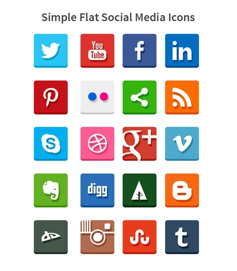 social media icons newhairstylesformen2014 com simple flat social media icons psd and png by softarea