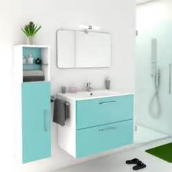 meuble de salle de bains de 80 224 99 bleu happy leroy