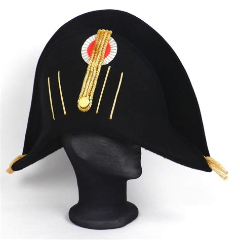 Empirecostume officier empire bicorne galonage or ou argent