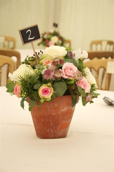 wedding flower pot centerpiece ideas gardens flower pot centerpiece and flower on