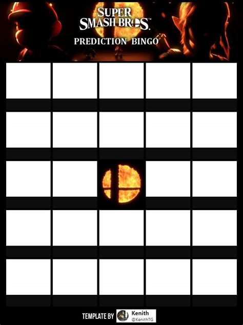 Smash Intro Card Template by Create Your Own Bingo Character Prediction Card Smash Amino