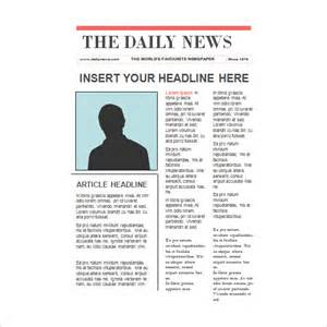 News Report Template by 8 Newspaper Report Templates Illustration Design Files