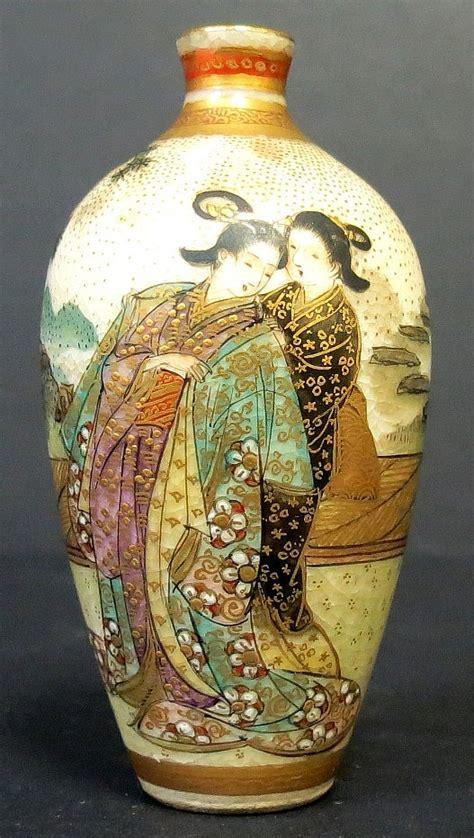 Satsuma Vases Satsuma Vase Miniature Very Rare Japan H 2 5 Quot