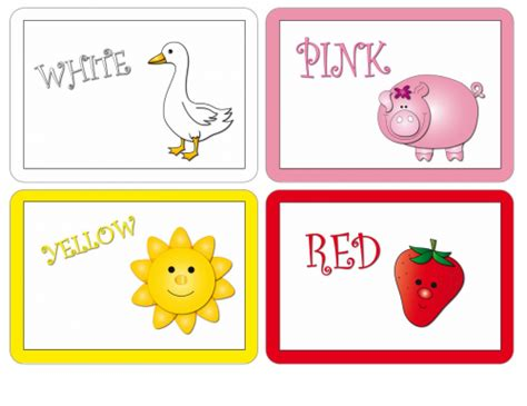 printable index cards color flash cards colors kidspressmagazine com