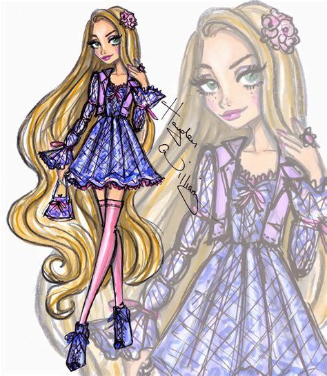 fashion illustration rapunzel hayden williams dinner with chanel