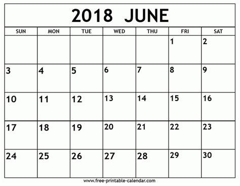 printable calendar 2018 june june 2018 calendar printable free journalingsage com