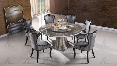 American Eagle Dt H36 Black Marble Top Round Dining Table