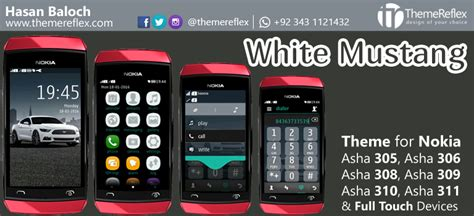 themes of nokia asha 306 white mustang theme for nokia asha 305 asha 306 asha 308