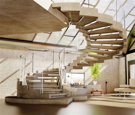 modernes treppenhaus der moderne treppen bau wundersch 246 ne designs f 252 r innen
