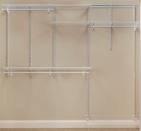 Home Depot Closet Organizer Kits by Closetmaid 6 8 Ft Shelftrack Organizer Kit White The