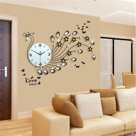 modern living room wall clocks