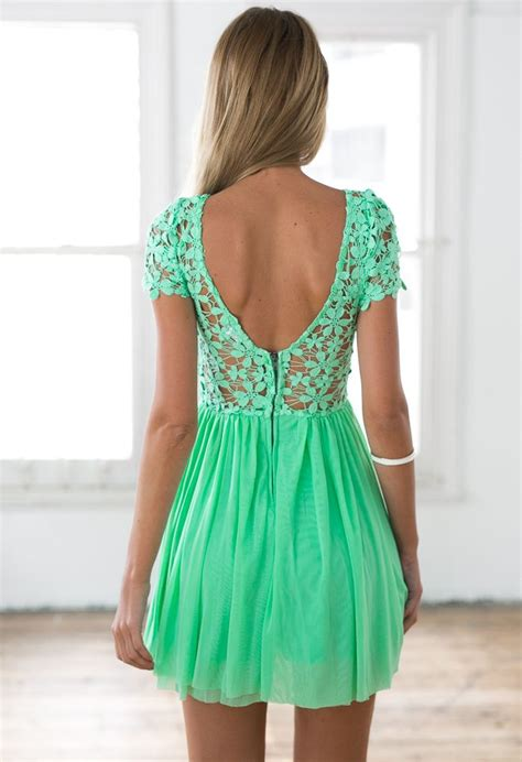 green embroidered lace top dress with tulle pleated skirt