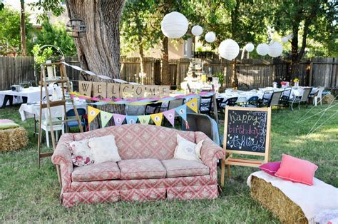 Backyard Campout Party Backyard Birthday Party Decoration Ideas Archives