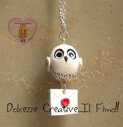 lettere fimo collana edvige handmade kawaii fimo idea regalo