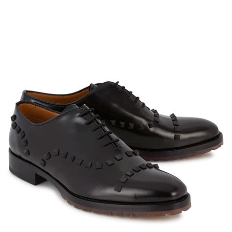 valentino mens sneakers valentino rockstud derby shoes in black for lyst