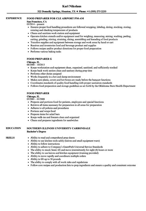 food service resume resume food service objective for food service